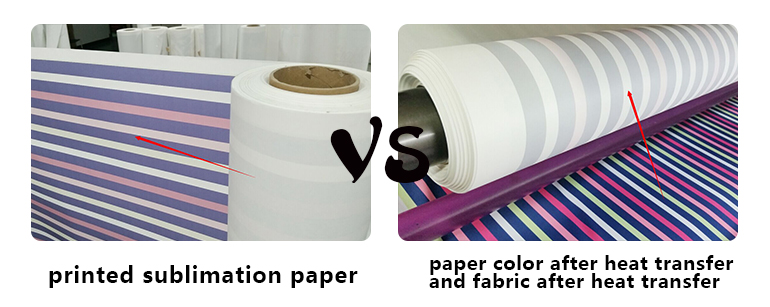 High quality sticky sublimation paper roll for sportswear